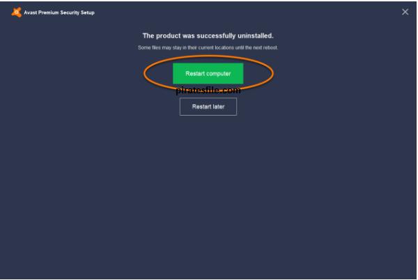 how to uninstall avast premium security
