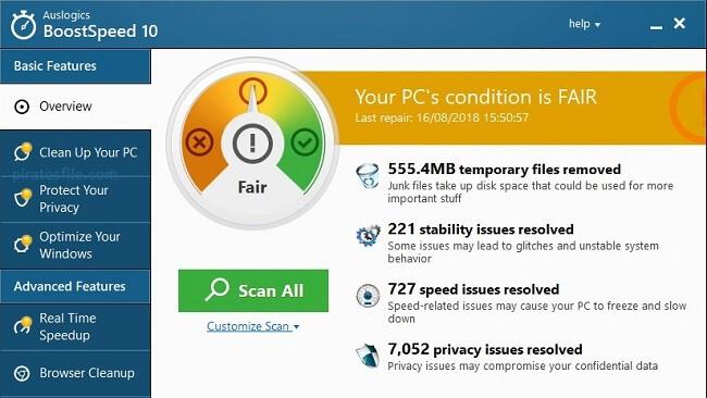 Auslogics BoostSpeed 11 Pro Crack + License Key Free Download