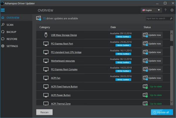 Ashampoo Driver Updater Crack Free Download